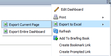 Did You Know? OBIEE Dashboard Excel Export Characteristics (1/4)