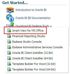 Oracle Smart View for Office 11.1.2.5.600 Released