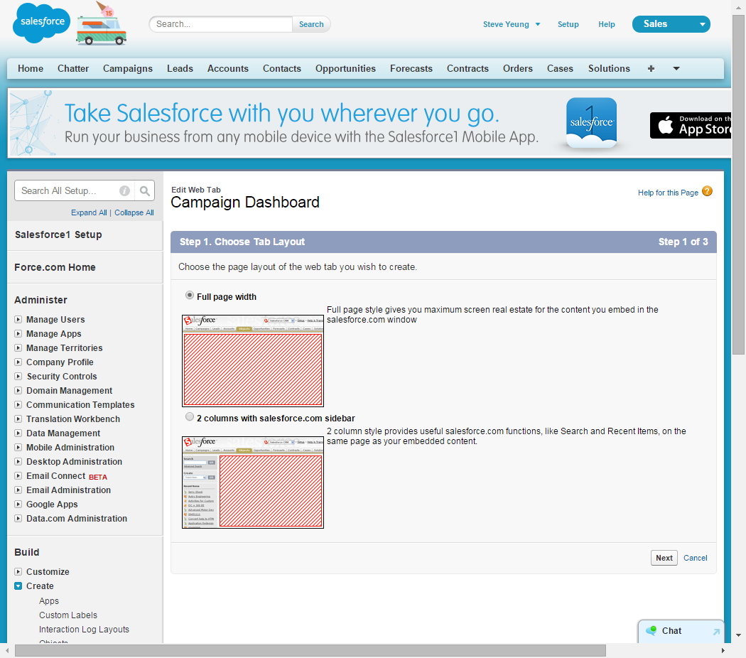 OBIEE Integration with Salesforce com – Part 4 Embed OBIEE to SFDC